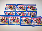 2012-13 Panini NBA Basketball Sticker Collection 10 packs of stickers
