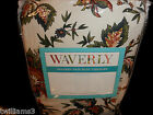 NWT WAVERLY Window Drapery Pair w Tieback and 7 Kristy Valance: Felicite-Ivory
