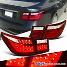 For 07 09 Lexus LS460 Red Clear Full LED Tail Brake Lights+Reverse Trunk Lamps