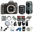 Canon EOS 70D + 48GB + 8 Lens SLR Camera Kit: 18-55 STM, 75-300mm. Value LOADED!