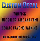 Personalized custom name vinyl decal sticker for car/truck laptop window