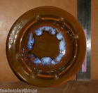 Maurice of California Pottery Ashtray #2 Brown & Blue Round 6