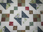 City Square NEW PIECED PATCHWORK QUILT TOP 88  88 52101G