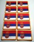 20 SERBIA Flag Iron On Tactical Patch Serbian Military ARMY Emblem Embroidered