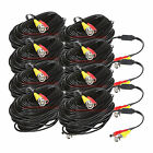 (8) 100ft 30m BNC Video DC Power Siamese Cables for CCTV Surveillance System