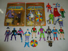 VINTAGE SUPER HEROES POWERS FIGURE LOT PENGUIN LEX LUTHOR SUPERMAN BATMAN ROBIN