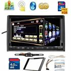 GPS Satellite Radio TV BT Car Stereo DVD Player Double 2Din 7