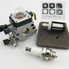 STIHL FS38 FS45 FS46 FS55 KM55 FC55 Carburetor + Carb Kit Air Filter Spark Plug
