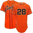 2014 Buster Posey Authentic San Francisco Giants ALT Orange Cool Base Jersey 40