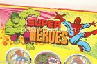 VINTAGE MARVEL COMICS SPIDERMAN  HULK PUZZLE BALL GAMES SHOP DISPLAY CARD