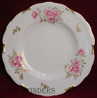 ROYAL CROWN DERBY china PINXTON ROSES pattern Dinner Plate @ 10 1/2