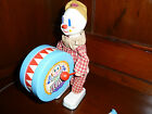 CELLULOID & Plastic VTG Durham Industries NY Performing/Drumming Toy Clown-1975
