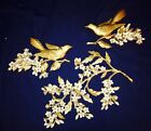 1967 VINTAGE BIRDS AND BRANCH ,PLASTIC  WALL DECORATION MADE IN USA