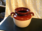 MCCOY Brown Beige Cream Double Handled McCoy 341 Bean Pot Cookie Jar