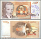 BOSNIA - P 2b - 1000 Dinara 1992 - STAMPED numeral 1 - FIRST PROVISIONAL ISSUE