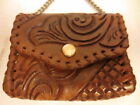 Vintage Hand Tooled Leather Snap Clutch Wallet Coin Purse OKLAHOMA