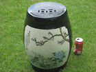 Antique Japanese Garden Seat Black and White