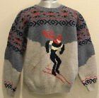 Club Room Large Wool Holiday Skiing Winter Ugly Vintage Knit Christmas Sweater