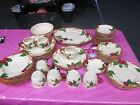 56 pcs FRANCISCAN Apple Dinnerware Platters Plates Cups Bowls Creamer Sugar
