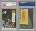 1969 Topps, Man On The Moon, #22 Lunar Study, PSA 8 NMMT