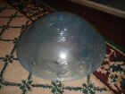Vintage Art Deco Style Ceiling Glass Lamp Shade-Blue W/Floral Patterns