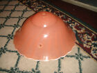 Vintage Art Deco Style Pink Swirled Glass Ceiling Lamp Shade-Pink Swirled Glass