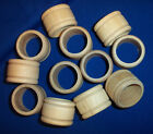 12 Natural Unfinished HardWood Wood Wooden Colonial Style Shapes Napkin Rings