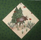9 Log Cabin & Wildlife Quilt Top Blocks Moose Deer Bear