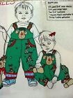 Daisy Kingdom RUDI REINDEER INFANT/TODDLER COVERALLS Fabric Panel Holiday Pants