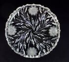 Fry ABP American Brilliant Cut & Floral Engraved Glass Plate or Low Bowl Signed