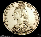 1887 Solid Silver Half Crown Coin Queen Victorian Old Very Fine Grade Antique UK
