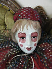Vintage huge Porcelain Hand painted Art Deco Italy Clown Doll 34