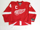 ZETTERBERG DETROIT RED WINGS AUTHENTIC HOME REEBOK EDGE 2.0 7287 JERSEY SIZE 54