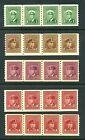 CANADA 1942-48 Set of 5 in coil strips of 4 SG389-393 Sc263-267 MNH / UMM CV£96+