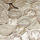 ONE (1) RANDOM DATE OLD CIRCULATED MERCURY DIME FROM LARGE LOT U.S. SILVER COINS
