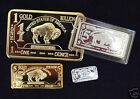 1/6 OZ solid silver buffalo set+Gold plated buffalo set complete USA very rare!