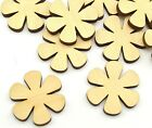 Crafting Supplies 100 pcs Laser cut wooden flower shapes 5 x 5 cm