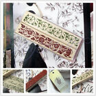 Wooden Rubber Stamp Flower Lace Handwriting Floral Scrapbooking Craft