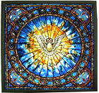 CHRISTIAN THE HOLY SPIRIT large 105 Square Stained Glass Panel Suncatcher