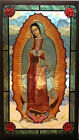 CHRISTIAN GIFT Glassmasters Our Lady of Guadalupe 8x14 Stained Glass NEW