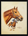 Secretariat photo from oil painting Horse Racing