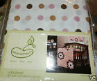 NEW BEANSPROUT POLKA DOT CRIB SHEET GIRL MAUVE TAUPE BROWN WHITE MOD DAISY
