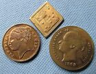 1800s Victorian Playing Card Counters- Registry marked Diamond To Hanover Temper