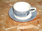 Vintage CURRIER AND IVES Tea Cup & Saucer Riverboat , Horse and Carriage