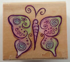 Stylized Butterfly Rubber Stampede Wooden Rubber Stamp 4514E