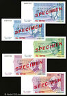 Bosnia *SPECIMEN SET*- 5 pieces - 1998 - P 57 58 59 61 62 - PERFORATED  STAMPED