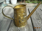 Vintage Brass Embossed Watering can English Scene man women dogs mid century