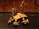 Five Antique Japanese Carved Miniature Figures with One Stand.