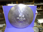 HAND FORGED EVERLAST ALUMINUM BOWL WITH COVER - LID ON COVER IS FLOWER SHAPED