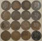 France 16 different Five Centimes 1861-97 Mixed grades